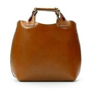 Zara Leather Buffalo shopper bag